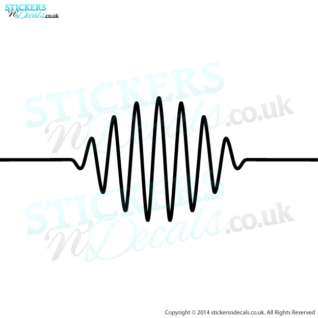 Arctic Monkeys AM Wavelength - Vinyl Wall Art - Vinyl Wall Decal - Wall Decor - Window Graphic
