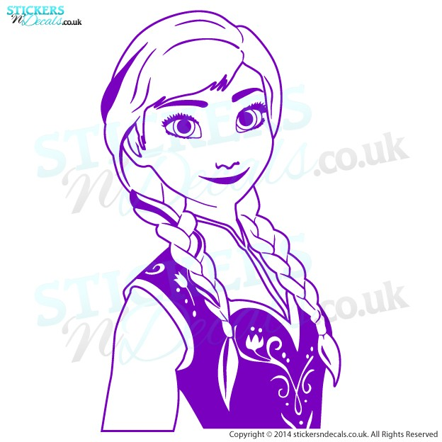 Disney Frozen - Princess Anna - Character Wall Decor - Childrens Wall Art - Vinyl Wall Decal - Disney Wall Decor