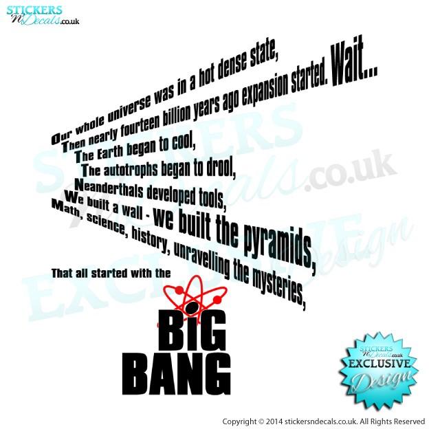 big bang theory wall art decal vinyl graphics