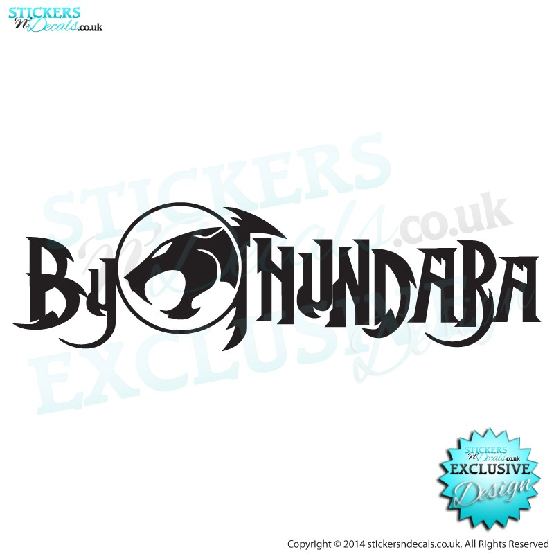 By Thundara From Thunder Cats - Window Sticker - Car Decal - Vinyl Wall Art - Vinyl Wall Decor