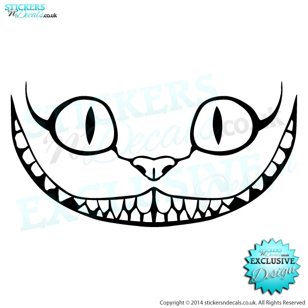 free coloring pages of cheshire cat smile