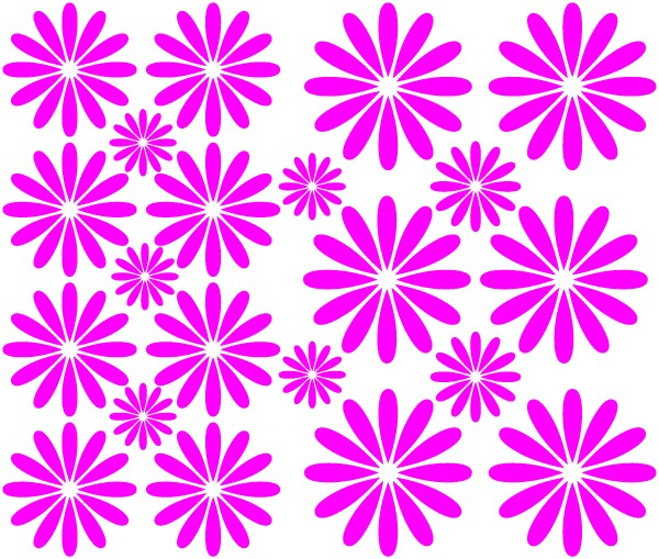 Daisy decals - Sheet | Wall decals | Car stickers