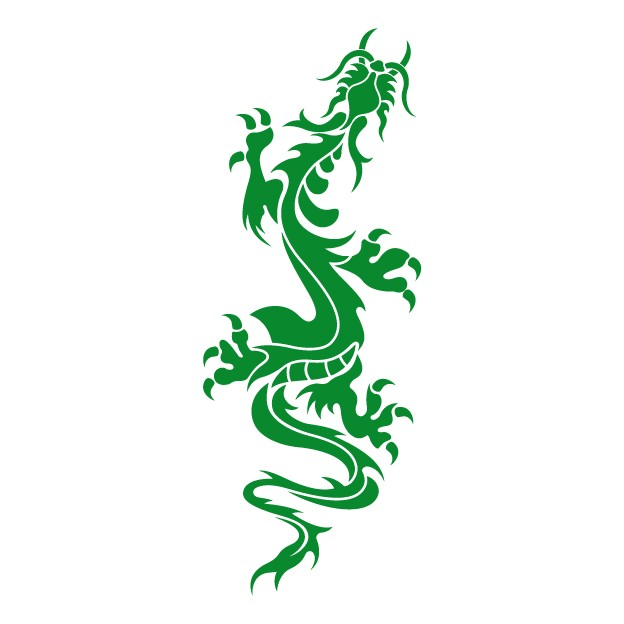 Chinese Dragon - Car Sticker - Window Graphic - Vinyl Wall Art - Wall Decal