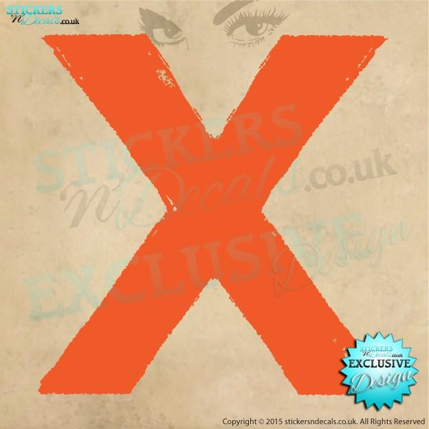 Ed Sheeran X Logo Wall Art Vinyl Wall Decal