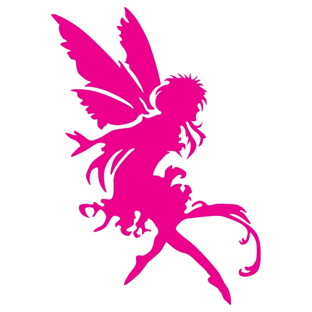 Tree Dwelling Pixie Fairy - Vinyl Wall Art - Wall Decal - Window Sticker - Wall Decor