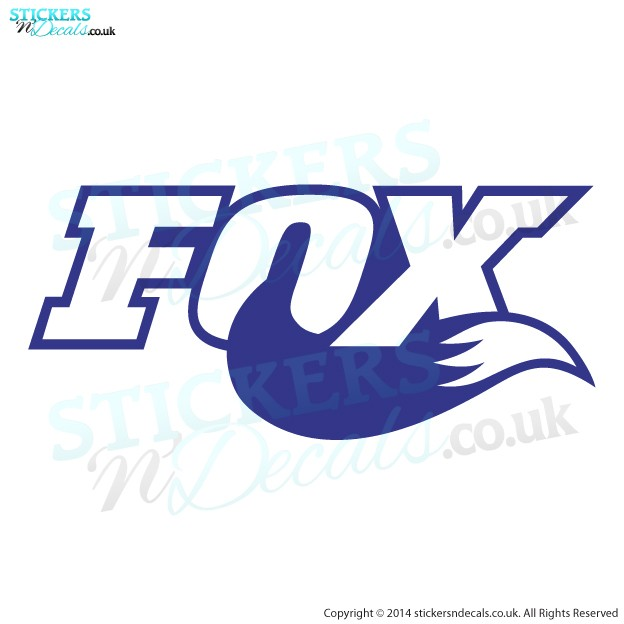 Fox & Tail Logo - Car Decal - Bumper Sticker - Window Graphic - Bike Sticker