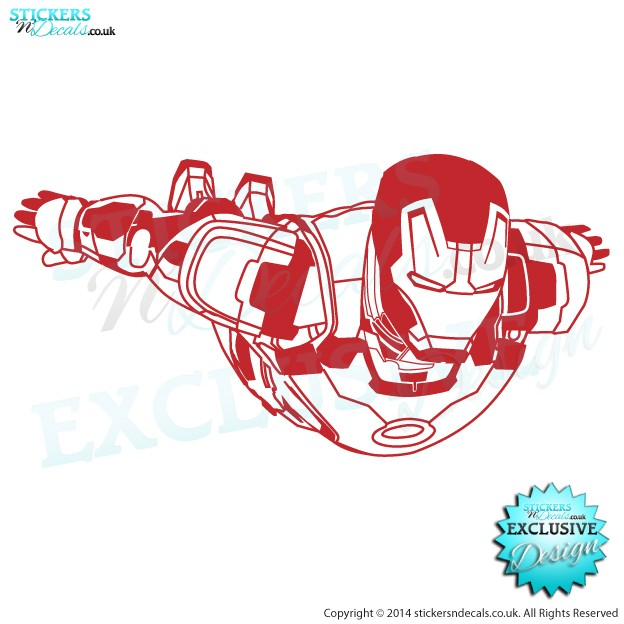 Marvel Avengers - Superhero Iron Man - Character Wall Decal - Childrens Wall Decor - Window Graphic - Disney Wall Art