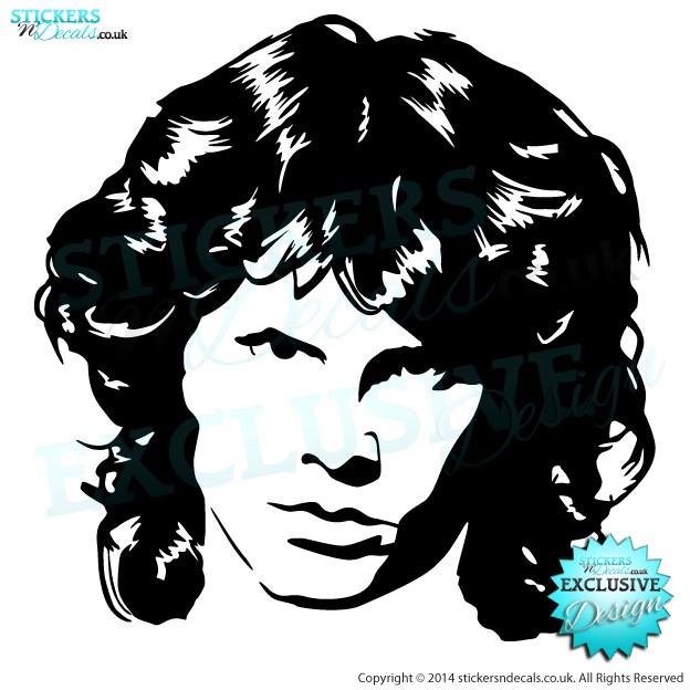 Jim Morrison - The Doors - Famous Faces - Vinyl Wall Art - Vinyl Wall Decal - Wall Decor - Window Sticker
