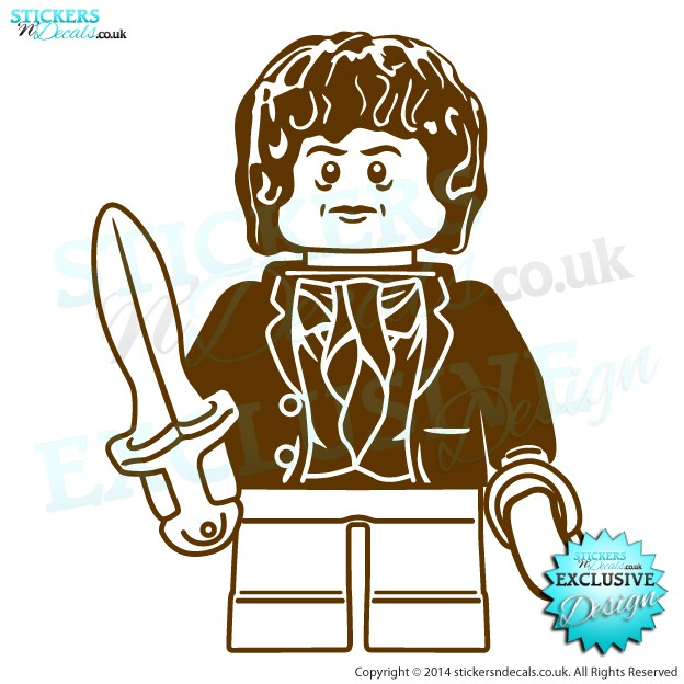 Lego Bilbo Baggins - The Hobbit Movie Game - Character Wall Art - Childrens Wall Decal - Window Graphic - Wall Decor