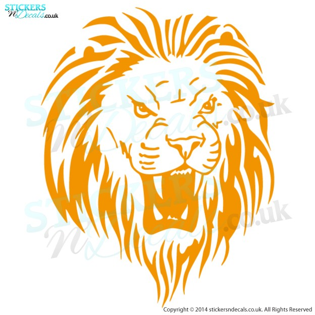 Amazing Roaring Lion Head - Vinyl Wall Art - Vinyl Wall Decal - Window Sticker - Car Graphic - Wall Decor