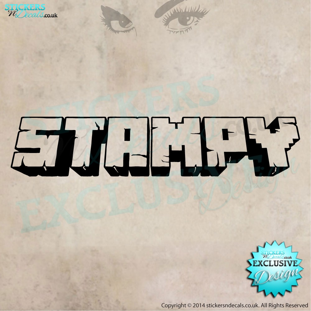 Stampy - Minecraft Style Text - Vinyl Wall Art - Vinyl Wall Decal - Window Sticker - Wall decor