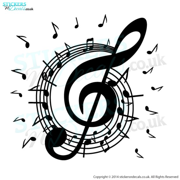 Musical Note Burst  - Vinyl Wall Art - Vinyl Wall Decal - Wall Decor - Window Sticker