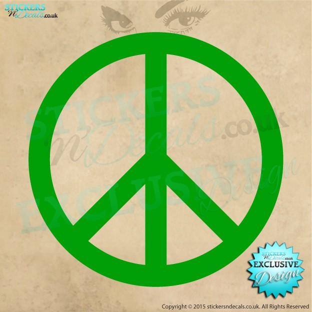 Peace Symbol - Vinyl Decal - Vinyl Sticker - Bumper Sticker - Window Graphic - Wall Art