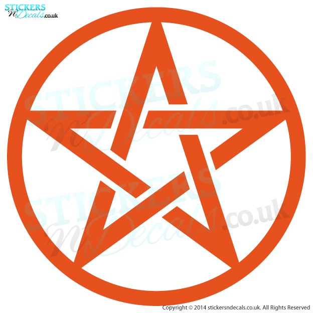 Pentagram Symbol - Vinyl Wall Art - Vinyl Wall Decal - Wall Decor - Window Sticker
