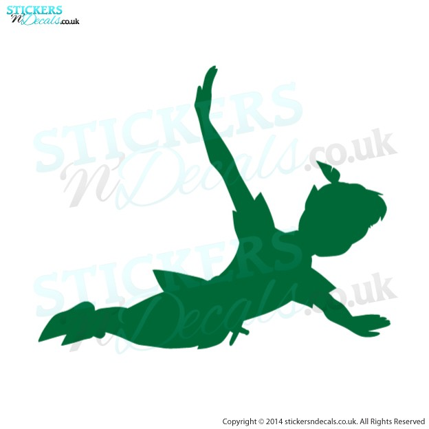Disney - Peter Pan In Flight - Vinyl Wall Art - Children`s Wall Decor - Character Wall Decal  - Disney Wall Decor