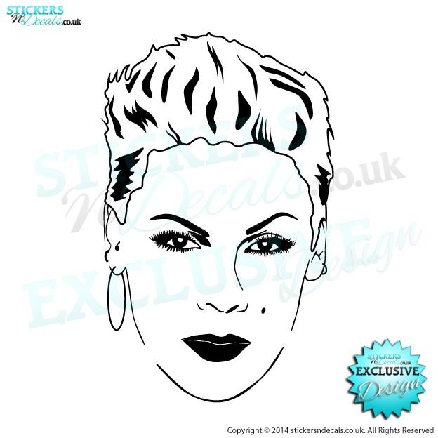 P!NK - Famous Faces - Vinyl Wall Art - Vinyl Wall Decal - Wall Decor - Window Sticker