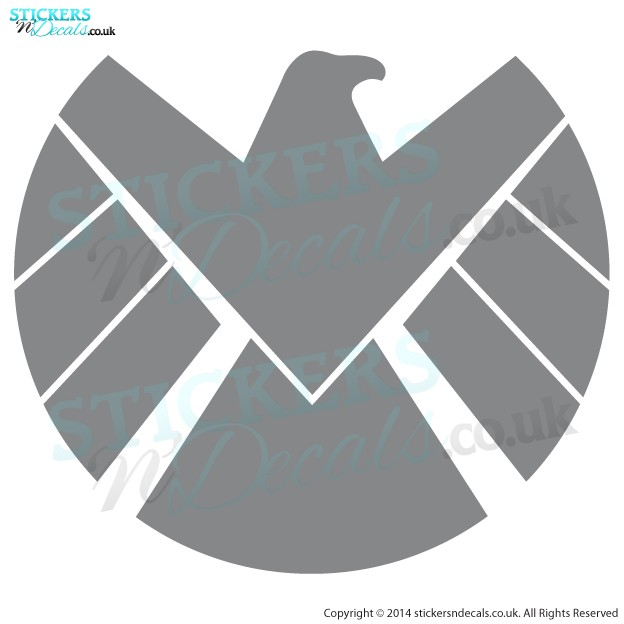 Marvel Agents of Shield - S.H.I.E.L.D - Eagle Head Logo, Icon - Bumper Sticker - Window Decal  - Car Graphic -  Laptop Decal