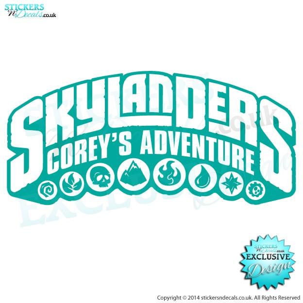 Personalised Skylanders Spyro`s Adventure - Vinyl Wall Art - Vinyl Wall Decal - Window Graphic - Wall Decor