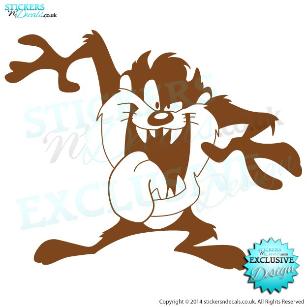 TAZ - The Tazmanian Devil - Vinyl Wall Art - Vinyl Wall Decal - Window Sticker - Vehicle Graphic