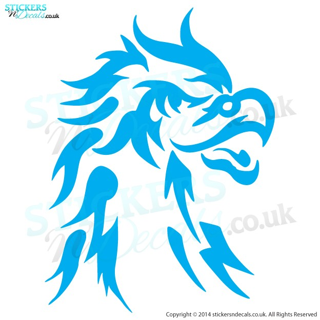 Tribal Eagle Head - Car Decal - Window Sticker - Wall Decor - Vinyl Wall Art - Vehicle Graphic