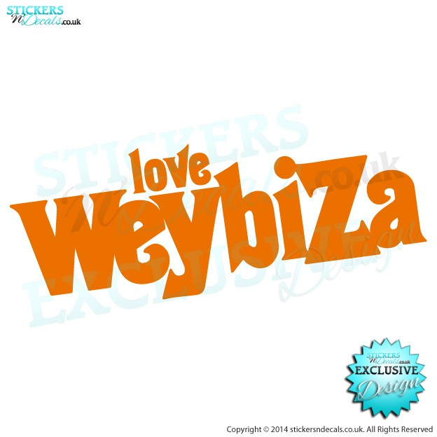Love Weybiza - Car Decal - Bumper Sticker - Window Graphic
