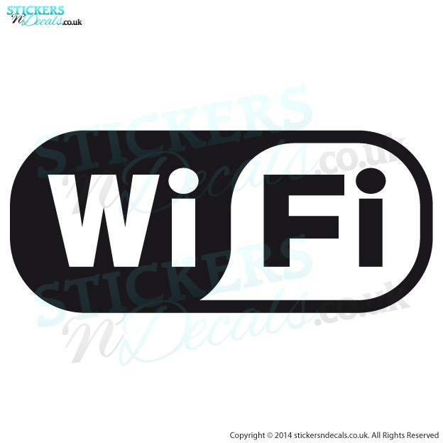 WiFi - Logo, Icon, Symbol - Window Graphic - Door Sticker - Vinyl Wall Decal