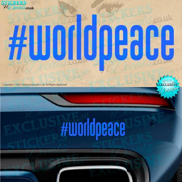 World Peace Car sticker