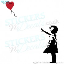 Banksy Inspired Balloon Girl - Vinyl Wall Art - Vinyl Wall Decal - Wall Decor - Window Graphic