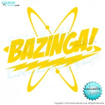 Bazinga! Logo -Sheldon Cooper - The Big Bang Theory - Vinyl Decal - Wall Art - Window Sticker - Wall Decor
