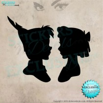 Disney - Peter Pan & Wendy - Silhouette - Vinyl Wall Art - Vinyl Wall Decal - Wall Decor - Disney Wall Art