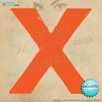 Ed Sheeran - X Logo - Vinyl Wall Art - Wall Decal - Window Sticker - Wall Decor