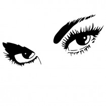 Stunning Beautiful Eyes - Vinyl Wall Art - Wall Decal - Window Graphic - Wall Decor