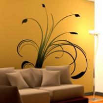 Gorgeous Tall Floral Stems - Vinyl Wall Art - Wall Decal - Window Sticker - Wall Decor