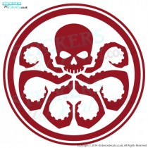 Marvel Agents Of Shield Hydra Logo - Vinyl Wall Art - Vinyl Wall Decal - Window Graphic - Wall Decor