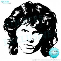Jim Morrison - The Doors - Famous Faces - Vinyl Wall Art - Vinyl Wall Decal - Wall Decor - Window Sticker