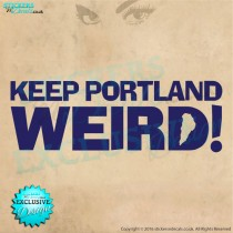 Keep Portland Weird bumper sticker