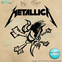 Metallica - Scary Guy Logo - Vinyl Wall Art - Wall Decal - Vinyl Sticker - Window Graphic