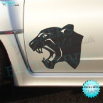 Roaring Black Panther Head - Car Decal - Bumper Sticker - Window Graphic - Vinyl Wall Decor