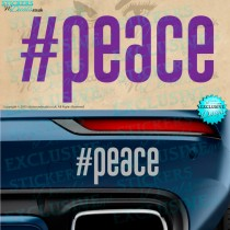 #Peace - Vinyl Decal - Vinyl Sticker - Vinyl Graphic