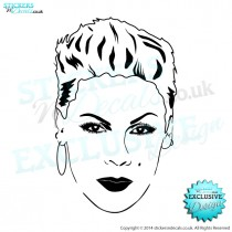 P!NK - Famous Faces - Vinyl Wall Art - Vinyl Wall Decal - Wall Decor - Window Sticker