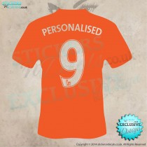 Personalised Football Shirt - Any Name, Any Number - Vinyl Wall Art - Vinyl Wall Decal - Wall Decor