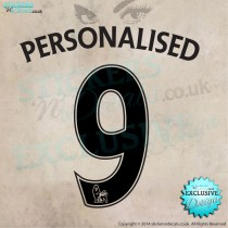Personalised Name & Number Football Style Text  - Vinyl Wall Decal - Vinyl Wall Art - Window Sticker - Wall Decor