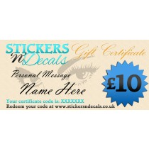Stickersndecals £10 Virtual Gift Certificate