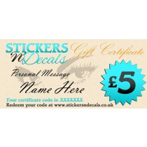 Stickersndecals £5 Virtual Gift Certificate