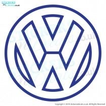 Volkswagon VW Logo Outline - Car Sticker - Car Decal - Window Sticker - Vinyl Wall Art - Wall Decal - Wall Decor