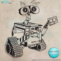 Disney Wall-e - Character Wall Decal - Children`s Wall Art - Bedroom Wall Decor - Disney Wall Art