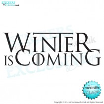 Winter Is Coming - Game Of Thrones Inspired - Vinyl Wall Art - Vinyl Wall Decal - Window Sticker - Car Graphic