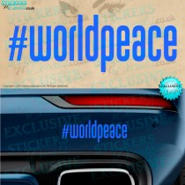 World Peace Car sticker