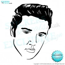 Elvis! - Famous Faces - Vinyl Wall Art - Vinyl Wall Decal - Wall Decor - Window Sticker