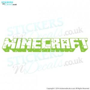Minecraft Logo Wall Decal